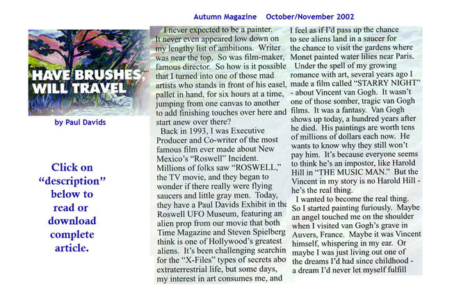 autumn magazine article by Paul Davids