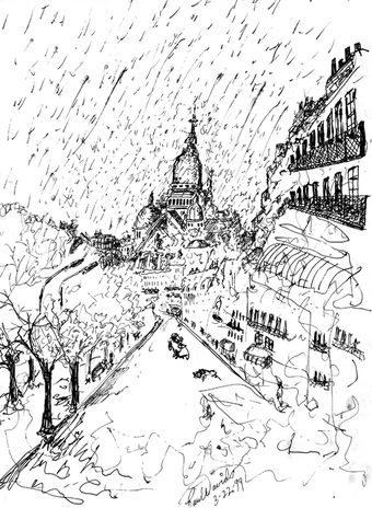 Sacre Coeur in the Rain