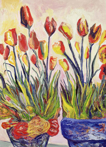 Two Pots with Tulips