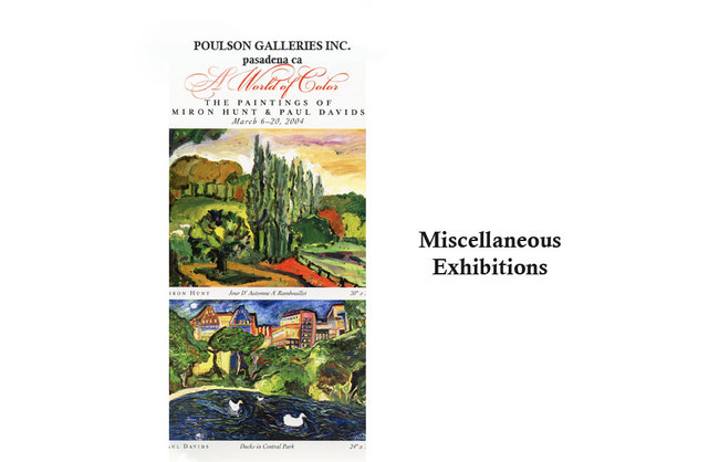 miscellaneous exhibitions - poulsen galleries, pasadena ca