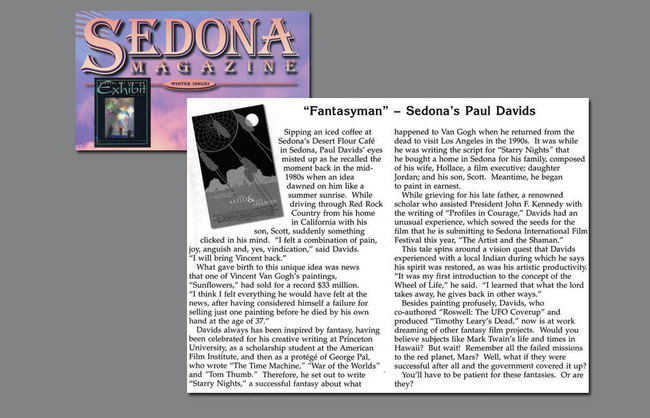 fantasyman - article in Sedona Magazine